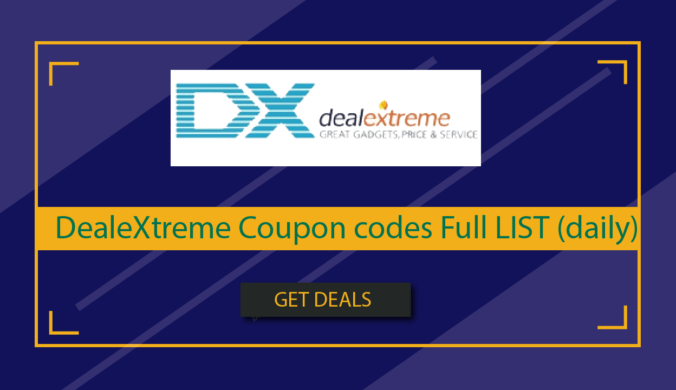 DealeXtreme Coupon codes Full LIST