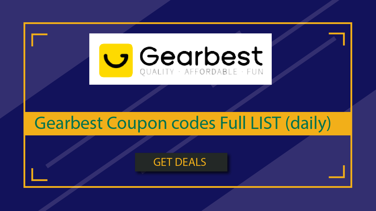 Gearbest Coupon codes Full LIST