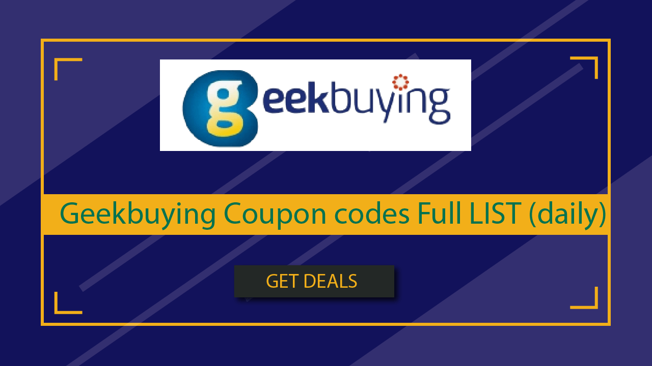 Geekbuying Coupon codes Full LIST